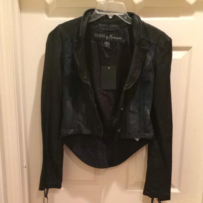 Guess By Marciano Dark Denim/black Jacket Image 2