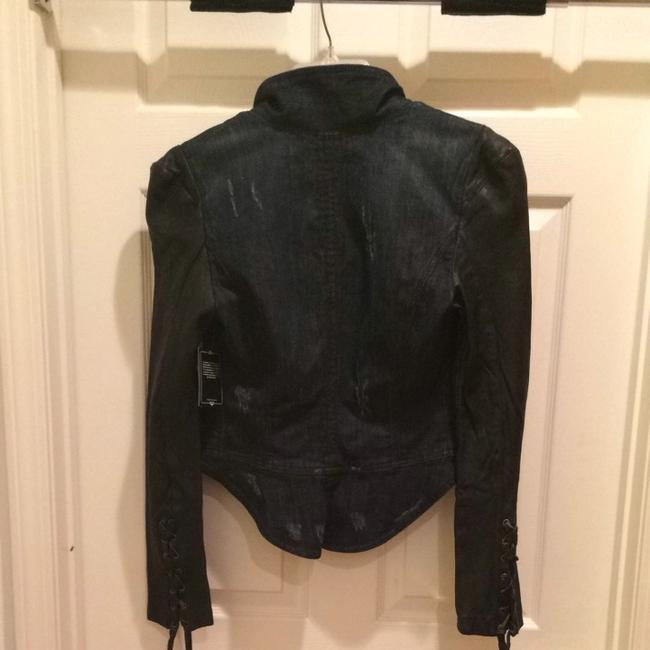 Guess By Marciano Dark Denim/black Jacket Image 3