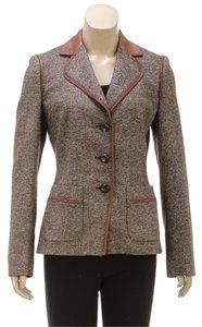 Salvatore Ferragamo Brown Womens Jean Jacket