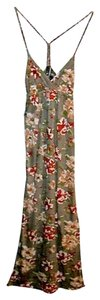 Gray Maxi Dress by Tilly's Maxi Flowy Floral Full Length Spring Summer Woven Halter Back-strap