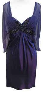 Marc Bouwer Beaded Silk Chiffon Dress