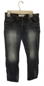 Abercrombie & Fitch Capri/Cropped Denim-Dark Rinse