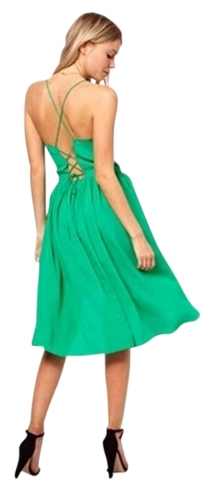 ASOS Kelly Green 01732803 High-low Short Casual Dress Size 2 (XS ...