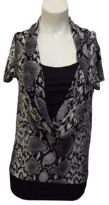 Isabella Rodriguez Top Grey & Black