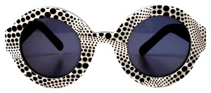 Louis Vuitton LOUIS VUITTON SUNGLASSES - POLKA DOT YAYOI KUSAMA - BLACK & WHITE ROUND RARE