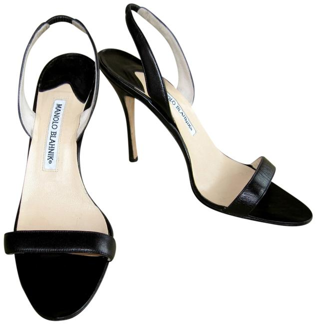 Item - Black Slingback Sandals Formal Shoes Size EU 38 (Approx. US 8) Narrow (Aa, N)