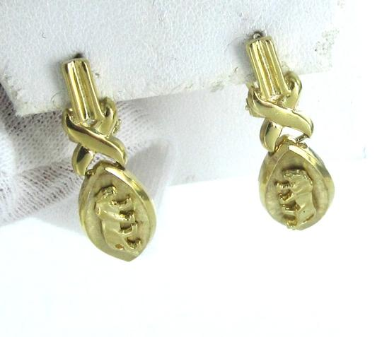 Other 14K SOLID YELLOW GOLD EARRINGS PANTHERE PANTHER 6 GRAMS ANIMAL DANGLE VINTAGE