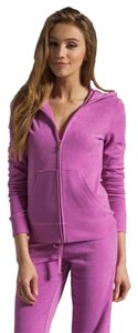 Juicy Couture Juicy Couture Lilac Top & Bottom Heliotrope Velour Jacket / Hoodie /Pants SET SIZE -XL NWT