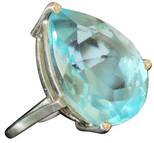 Other Large 8.00ctw Genuine Blue Topaz 925 Sterling Silver Ring 7