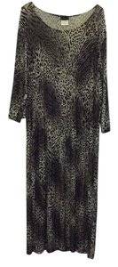 Black/Beige Maxi Dress by Ciciknits Soft Animal Print Plus-size