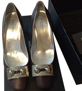 Dolce&Gabbana Brown/sliver Pumps