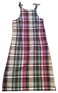 Tommy Hilfiger short dress red, yellow, green, blue, white plaid Summer on Tradesy
