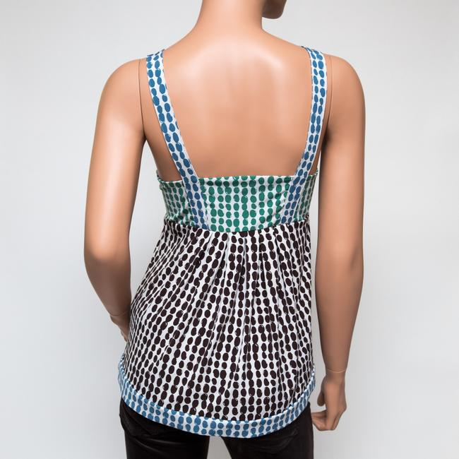 BCBGMAXAZRIA Sleeveless Spotted Brown Green Blue Top multicolor Image 1