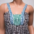 BCBGMAXAZRIA Sleeveless Spotted Brown Green Blue Top multicolor Image 2