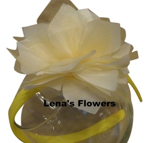 Other White and Yellow flower on plastic headband, hair accessories. Fall season colors.