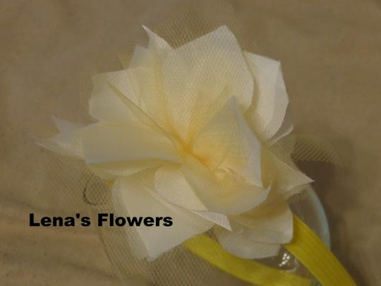 Other White and Yellow flower on plastic headband, hair accessories. Fall season colors. Image 2