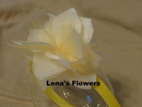 Other White and Yellow flower on plastic headband, hair accessories. Fall season colors. Image 4