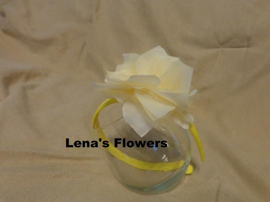 Other White and Yellow flower on plastic headband, hair accessories. Fall season colors. Image 6