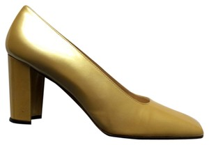 Stuart Weitzman Yellow Gold Pumps