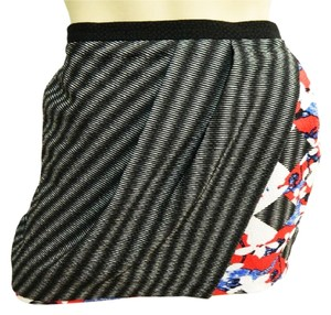 Peter Pilotto Skirt Black Stripe Floral