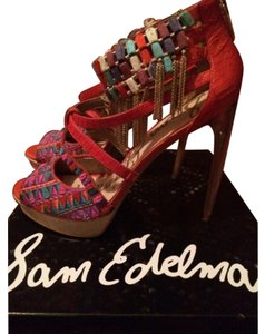 Sam Edelman Red Multi Platforms