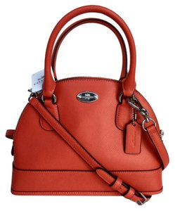 Coach Mini Cora Domed Leather Cross Body Bag