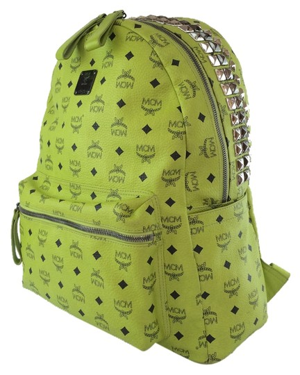 Lime and Yellow Studded Backpack