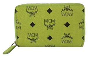 MCM MCM Smart Phone Case Lime Green Visetos Small Wallet
