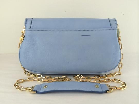 Tory Burch Leather Shoulder light chambray blue Clutch Image 10