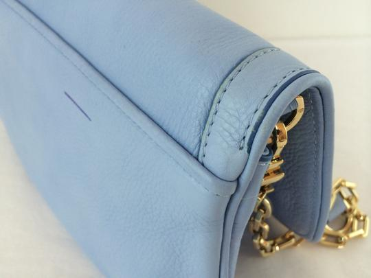 Tory Burch Leather Shoulder light chambray blue Clutch Image 3