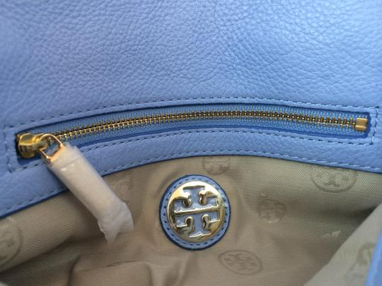 Tory Burch Leather Shoulder light chambray blue Clutch Image 5
