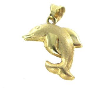 Other 14K YELLOW GOLD PENDANT DOLPHIN HOLLOW NO SCRAP 2.0 GRAMS FINE JEWELRY ITALY
