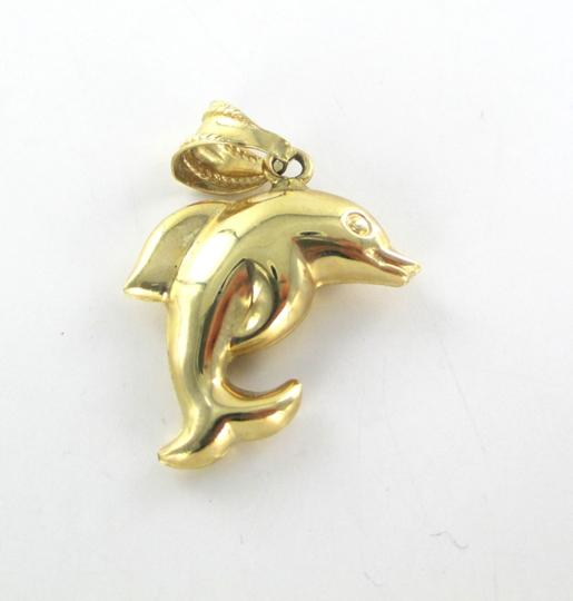 Other 14K YELLOW GOLD PENDANT DOLPHIN HOLLOW NO SCRAP 2.0 GRAMS FINE JEWELRY ITALY Image 3