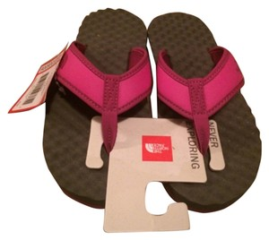 The North Face Gray, Pink Sandals
