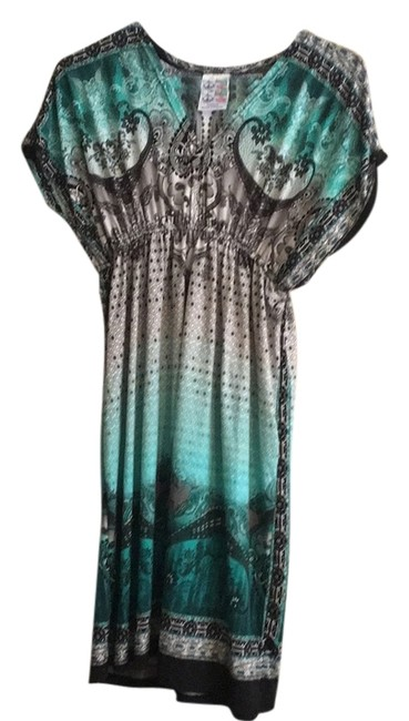 Item - Grey and Green Dress Cover-up/Sarong Size 12 (L)