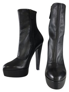 ALAÏA Leather Platform Black Boots