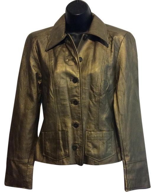 Item - Gold Metallic Dark Jacket Size 2 (XS)
