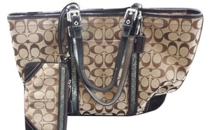 Coach Limited Edition Tote in Brown and tan- With matching Wristlet!!!