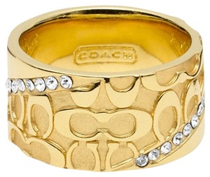 Coach size 7-HALF SIGNATURE PAVE BAND RING $76.50