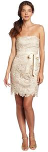 Adrianna Papell Strapless Lace Dress