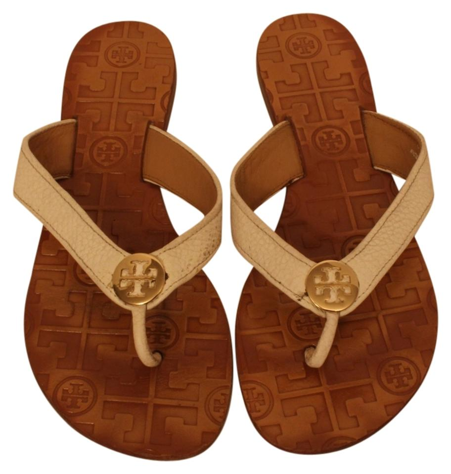 Tory Burch Logo White Thora Patent Leather Logo Burch Sandals 5a0e54