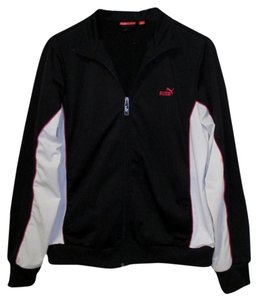 Puma Puma Black Running Jacket with White and Pink Accents (Size XL)