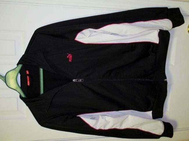 Puma Puma Black Running Jacket with White and Pink Accents (Size XL) Image 1