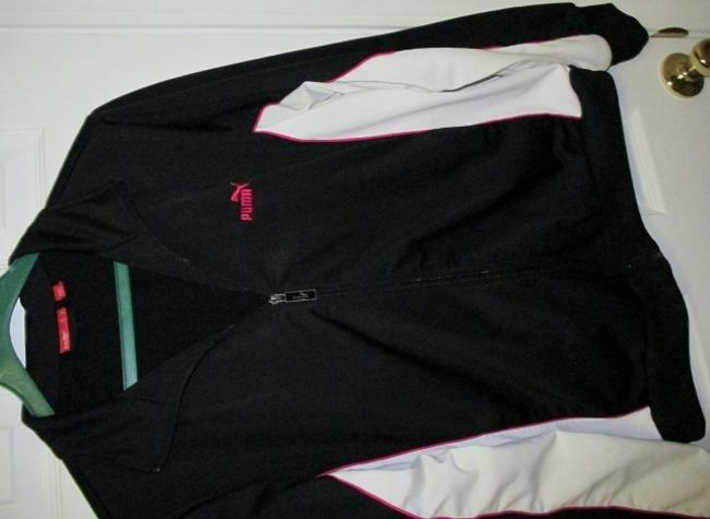 Puma Puma Black Running Jacket with White and Pink Accents (Size XL) Image 2