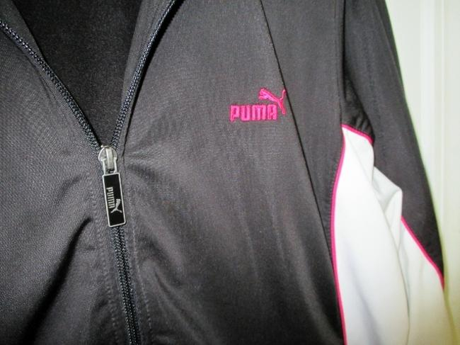 Puma Puma Black Running Jacket with White and Pink Accents (Size XL) Image 3