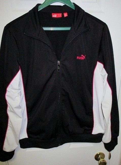 Puma Puma Black Running Jacket with White and Pink Accents (Size XL) Image 5