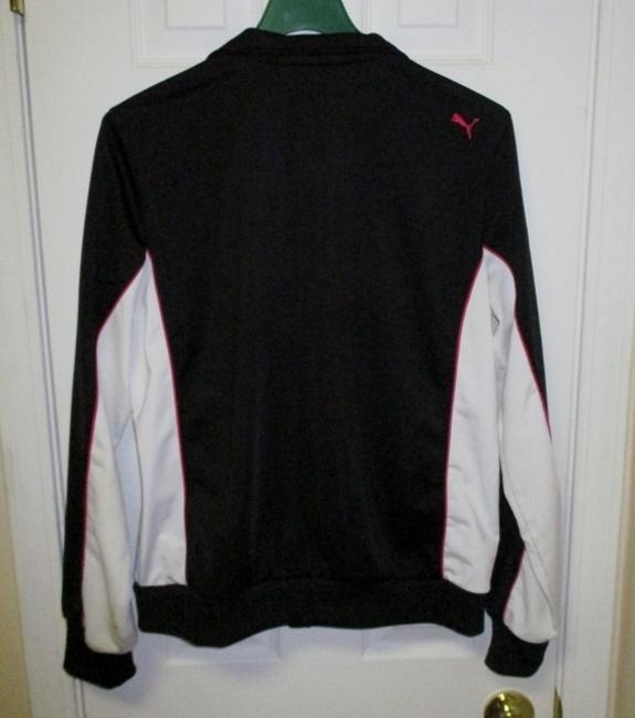 Puma Puma Black Running Jacket with White and Pink Accents (Size XL) Image 6