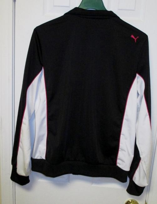Puma Puma Black Running Jacket with White and Pink Accents (Size XL) Image 7