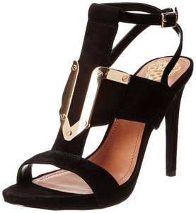 Vince Camuto Black Suede Sandal Sexy Sandals