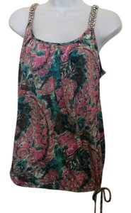 INC International Concepts Dress Summer Top Teal and Mauve Pink